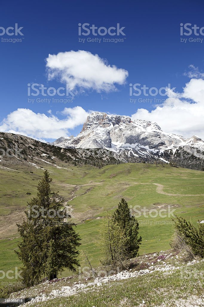 Prato Piazza, Plaetzwiese. Alto Adige, Dolomites royalty-free stock photo