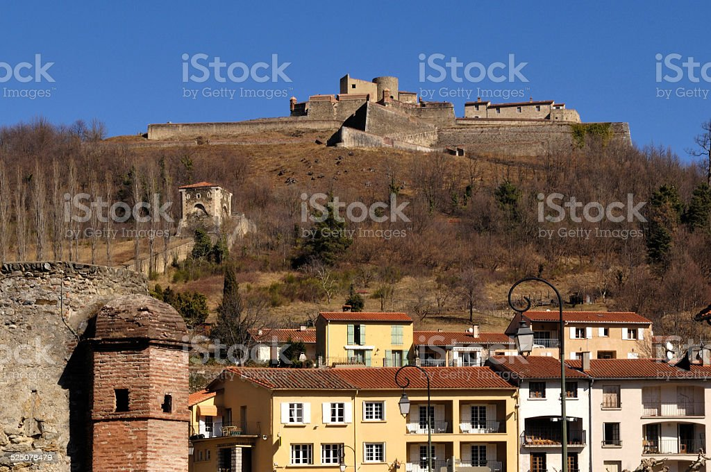 Prats de Mollo, France stock photo