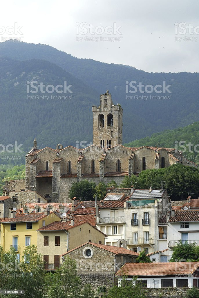 Prats de Mollo (Pyrenees, France) - Panoramic view stock photo