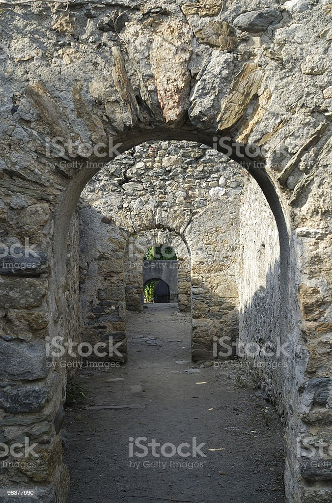 Prats de Mollo (Languedoc-Roussillon, Pyrenees, France) - Walls royalty-free stock photo