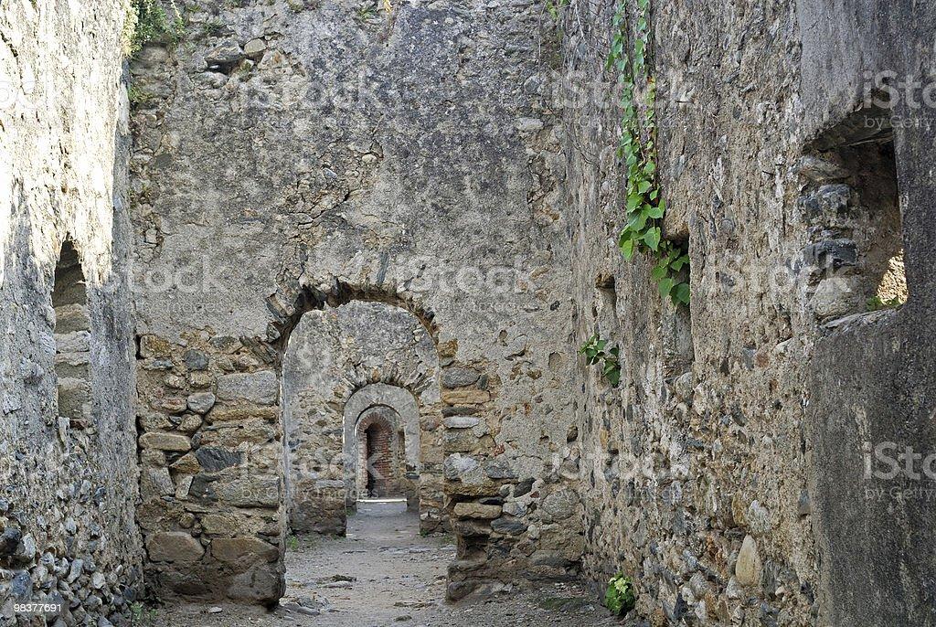 Prats de Mollo (Languedoc-Roussillon, Pyrenees, France) - Walls royalty-free stock photo