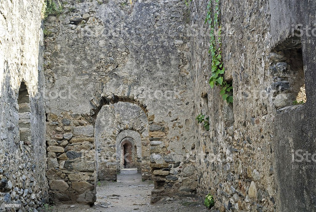 Prats de Mollo (Languedoc-Roussillon, Pyrenees, France) - Walls stock photo