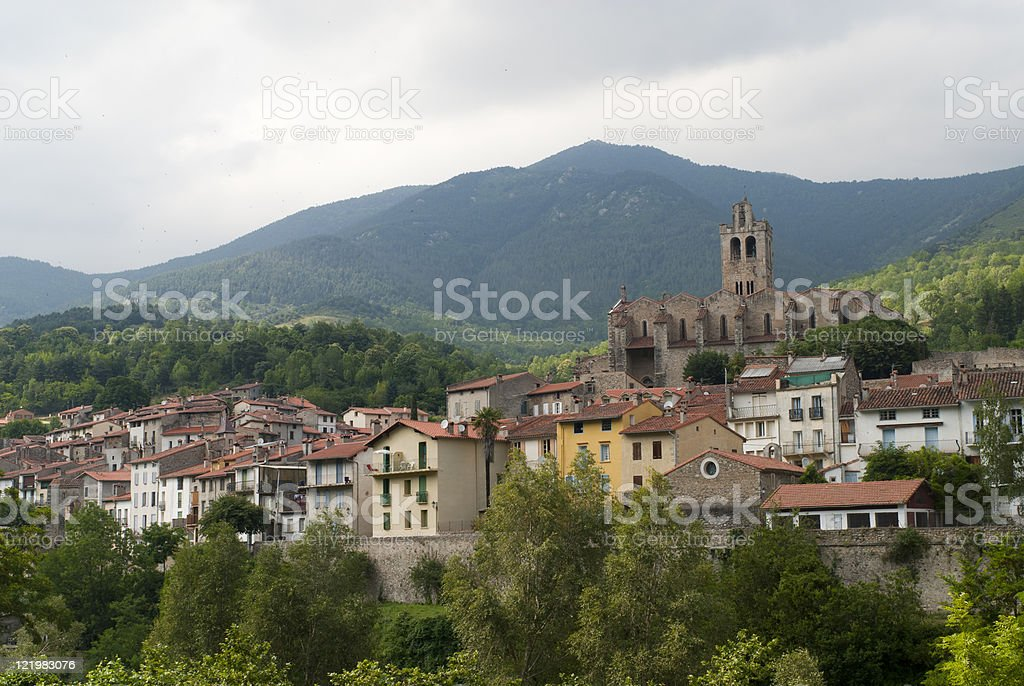 Prats-de-Mollo (Pyrenees, France) stock photo
