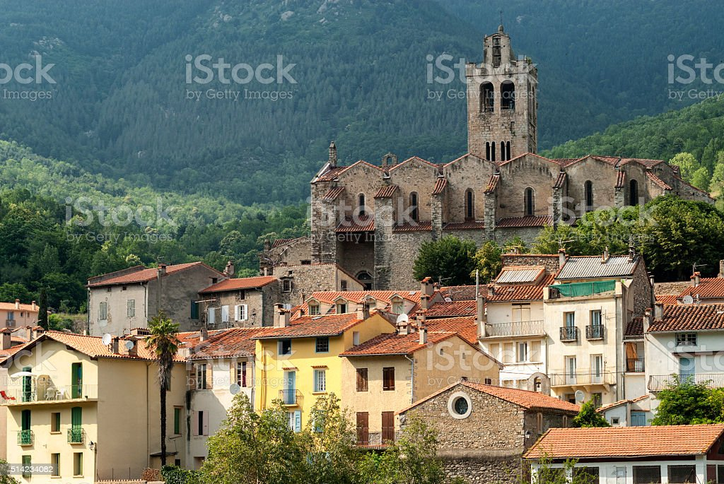 Prats-de-Mollo-la-Preste (Pyrenees, France) stock photo