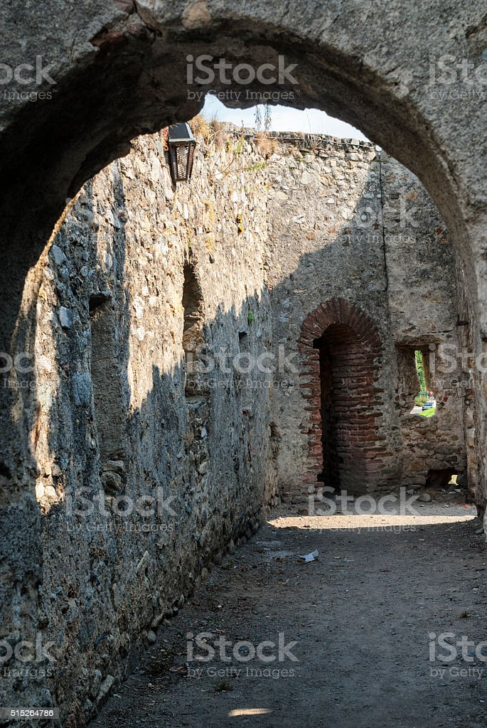 Prats-de-Mollo-la-Preste (Pyrenees, France):  walls stock photo