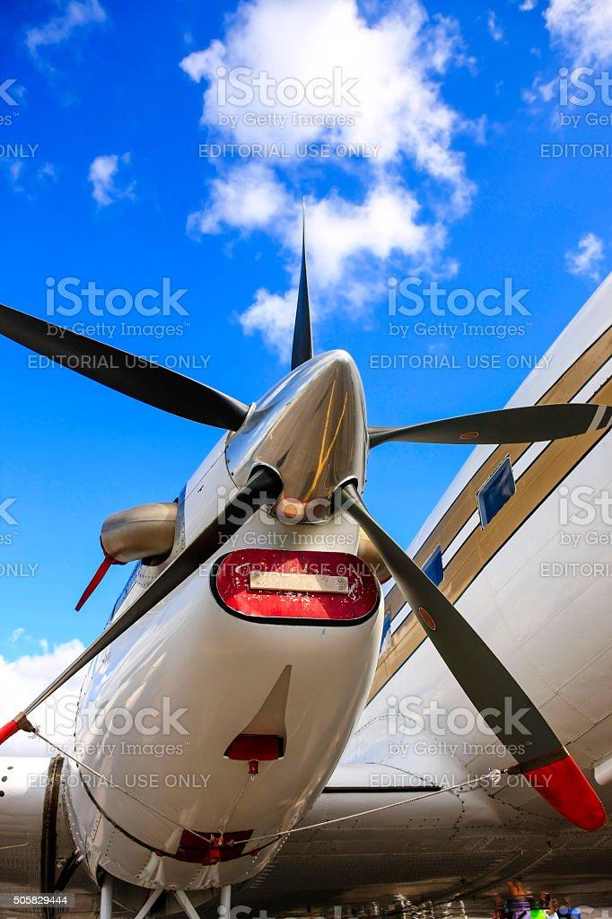 Pratt & Whitney Canada PT6A-65R turboprop aircraft engine stock photo