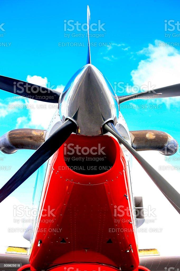 Pratt & Whitney PT6A-60AG turboprop aircraft engine stock photo