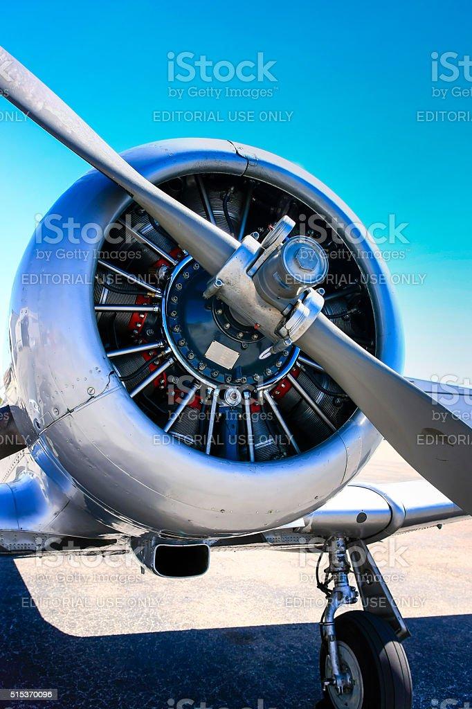 Pratt & Whitney R-1340-49 Wasp radial engine stock photo