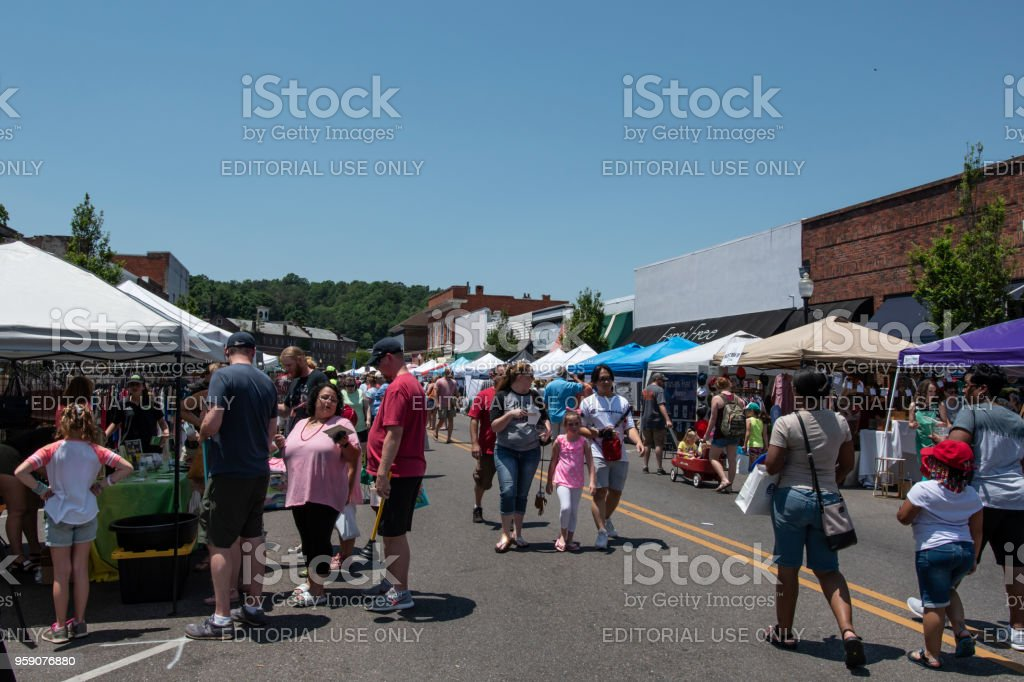 Prattville Cityfest Court Street Stock Photo & More Pictures