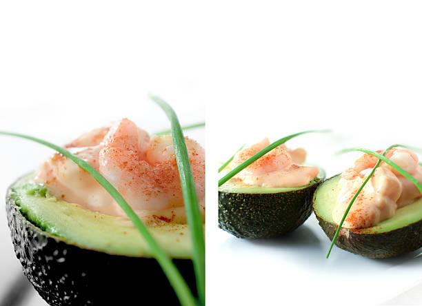 Prawn and Avocado Appetiser stock photo