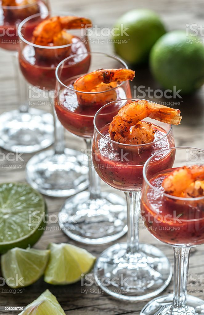 Prawn cocktails stock photo