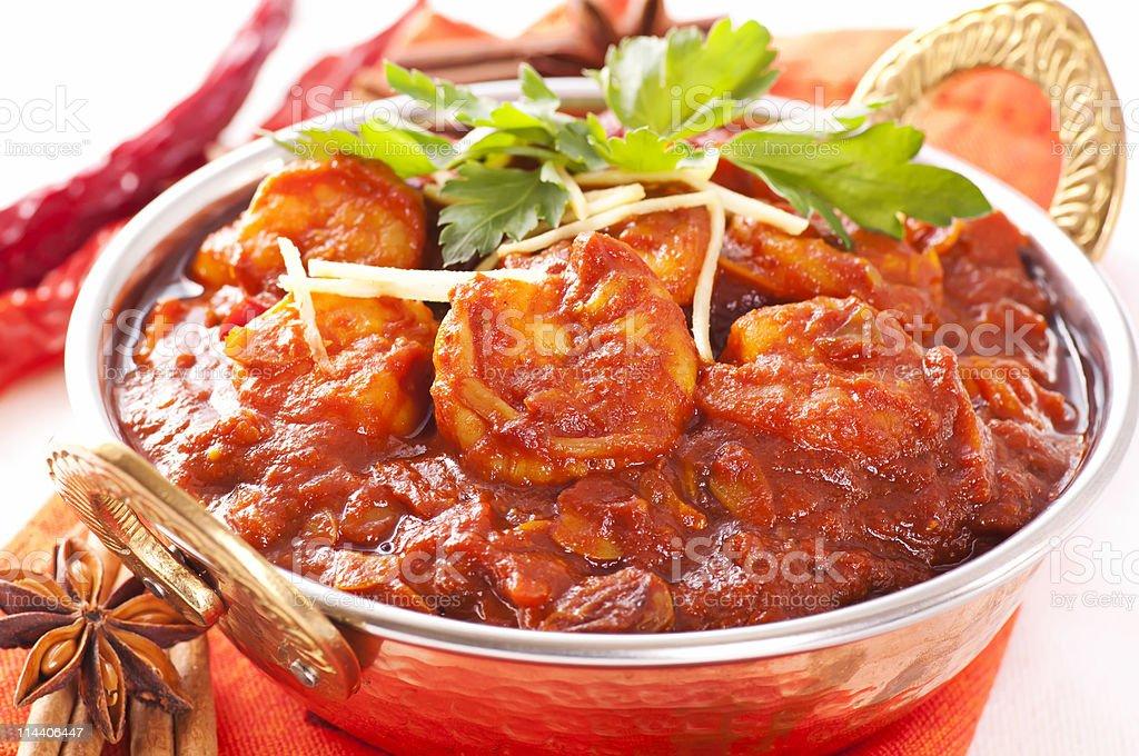 Prawn Curry Madras stock photo