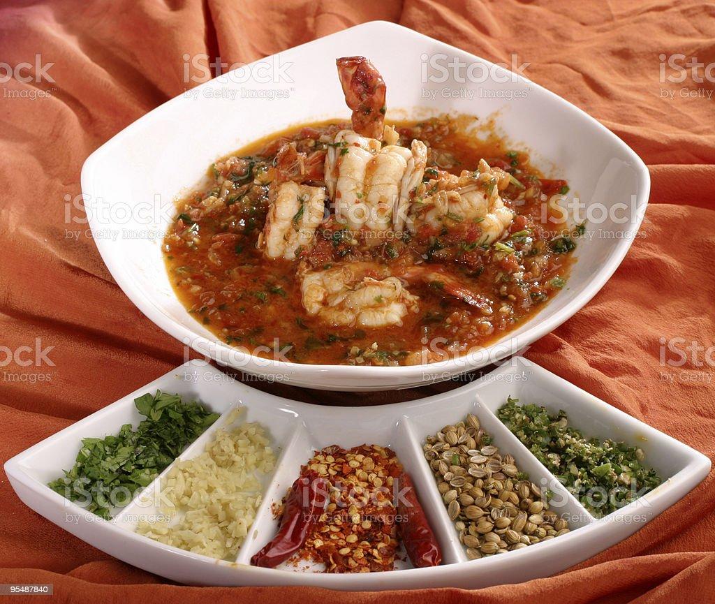 Prawn Curry stock photo