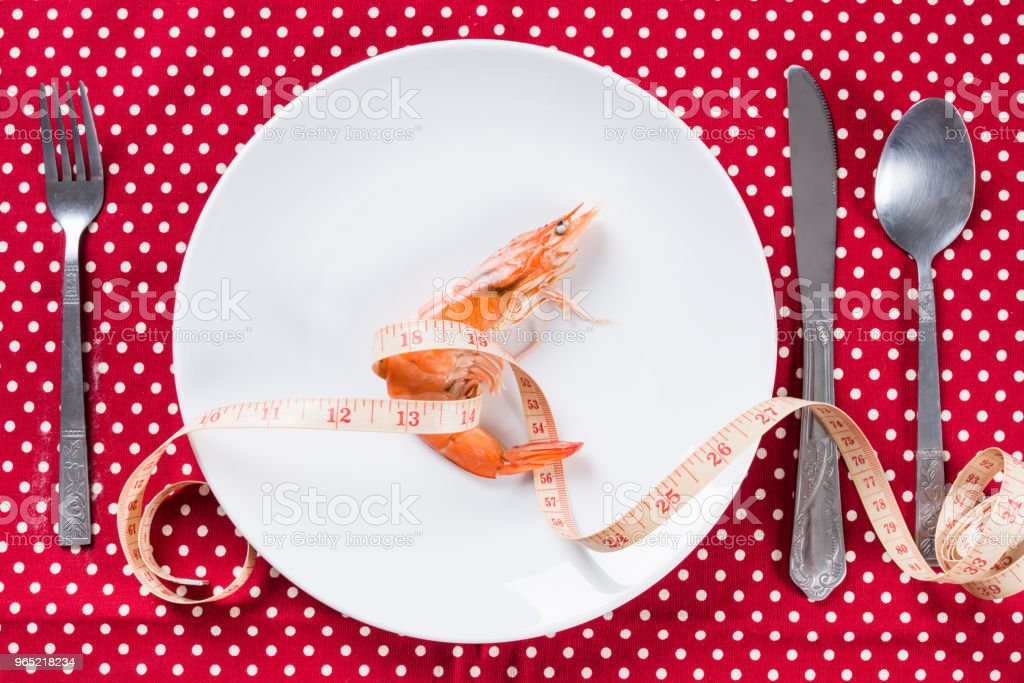 Prawn shrimp in white plate royalty-free stock photo