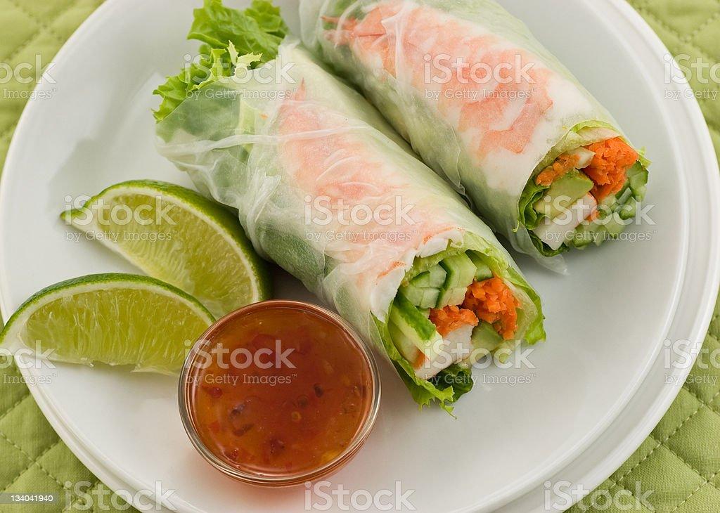 Prawn Summer Roll sushi royalty-free stock photo