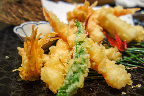 árctico tempura comida japonesa - tempura imagens e fotografias de stock