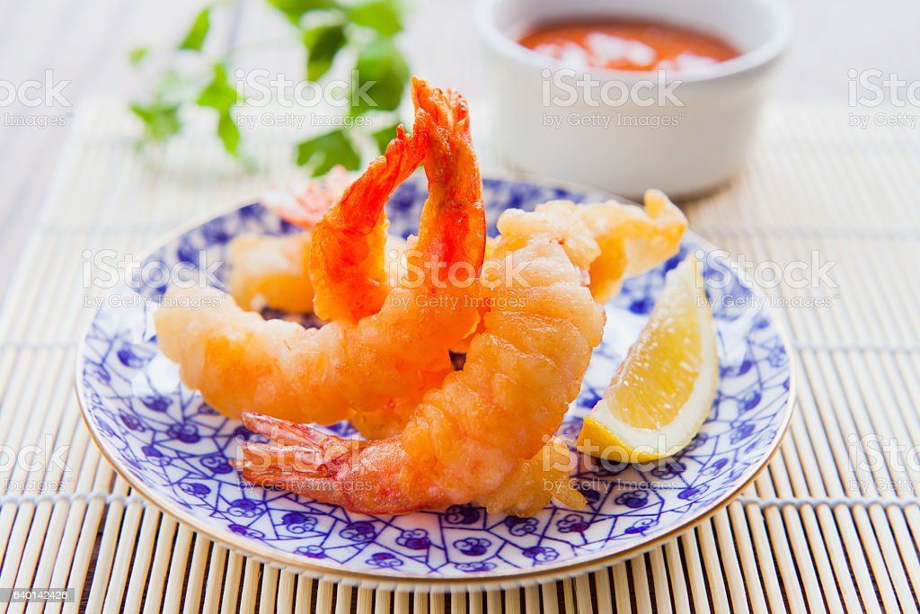 Prawn Tempura stock photo
