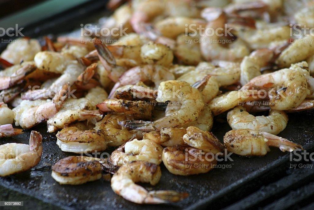 BBQ Prawns / Shrimp royalty-free stock photo