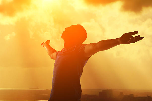 pray and worship and free - praise and worship stock photos and pictures