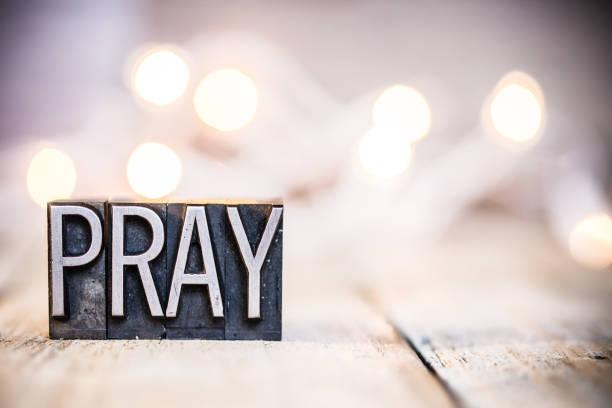 祈禱概念復古活版類型主題 - prayer 個照片及圖片檔
