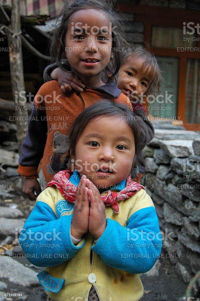 Pray for Nepal stock photo
