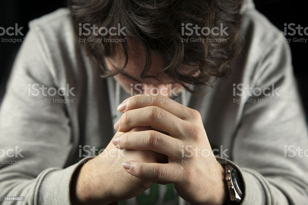 Pray royalty-free stock photo