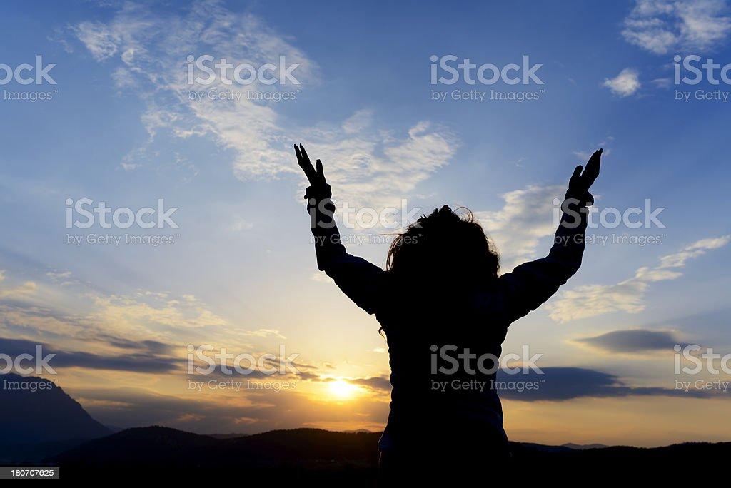 pray time royalty-free stock photo