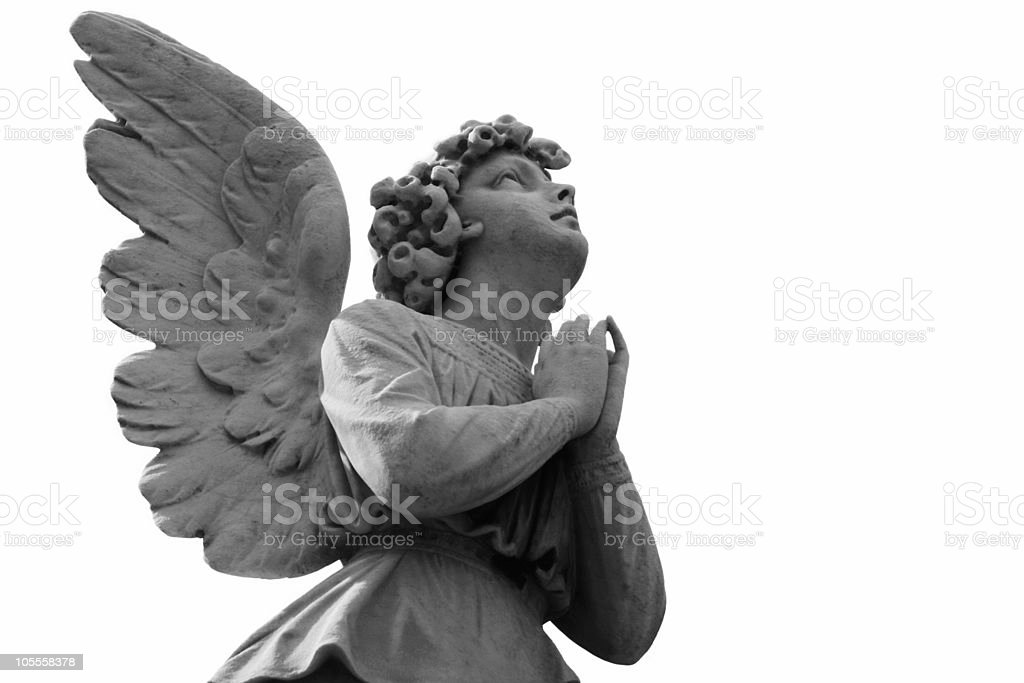pray with white background stock photo