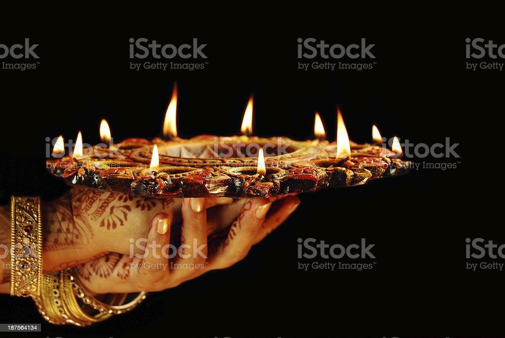 Prayer and Celebrations stock photo
