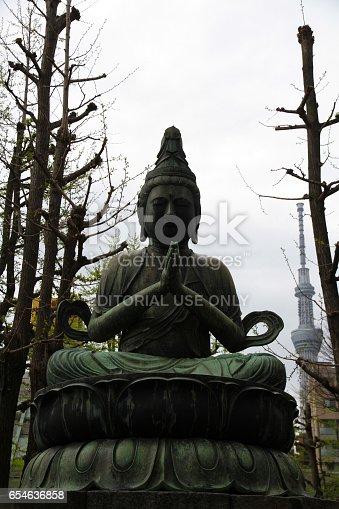 464620985 istock photo Prayer and Skytree 654636858