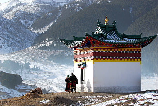 Prayer and Temple  monastery stock pictures, royalty-free photos & images
