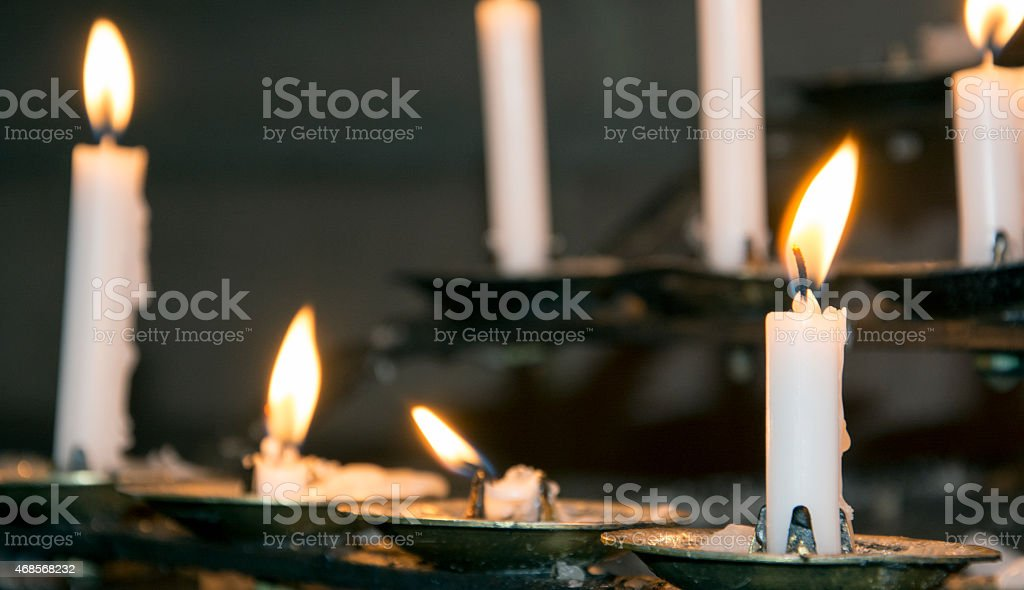 Prayer candle stock photo