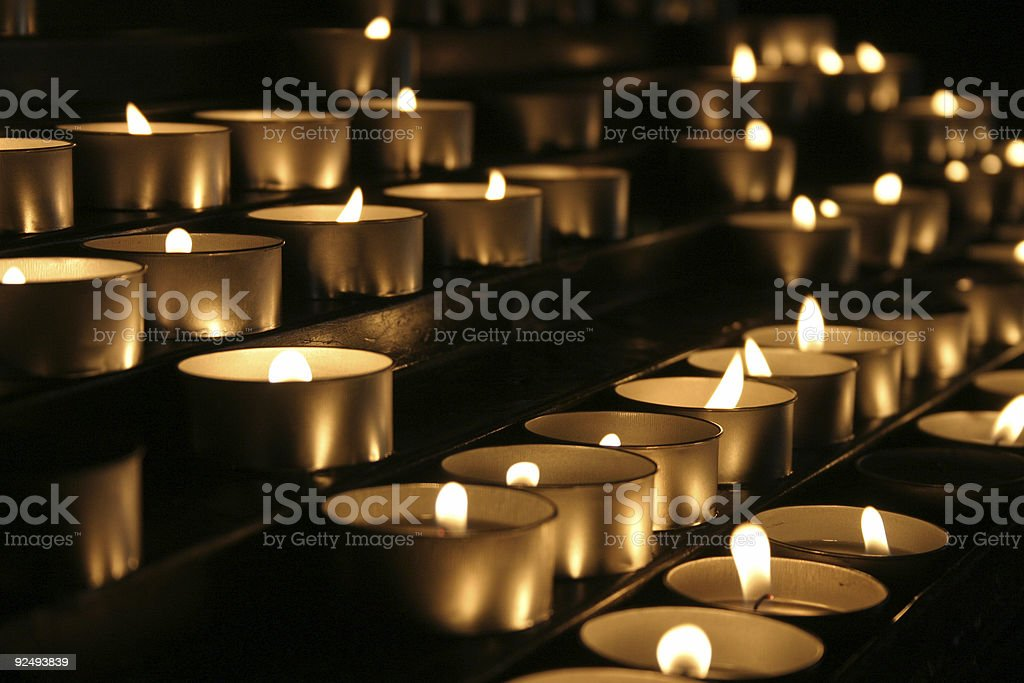 prayer candles 13 royalty-free stock photo