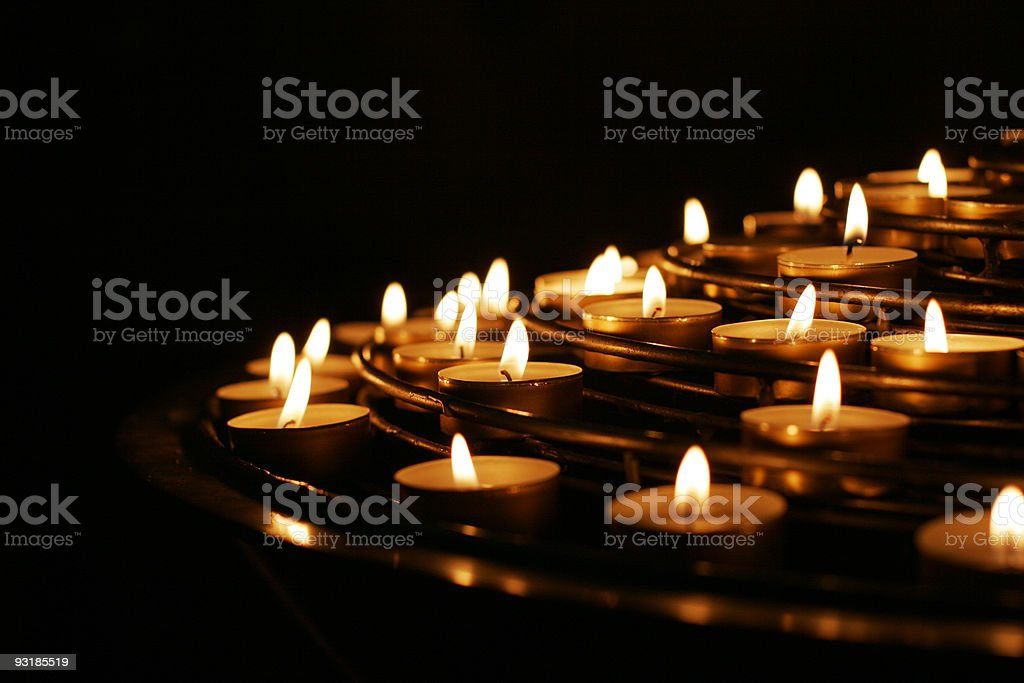Prayer Candles royalty-free stock photo