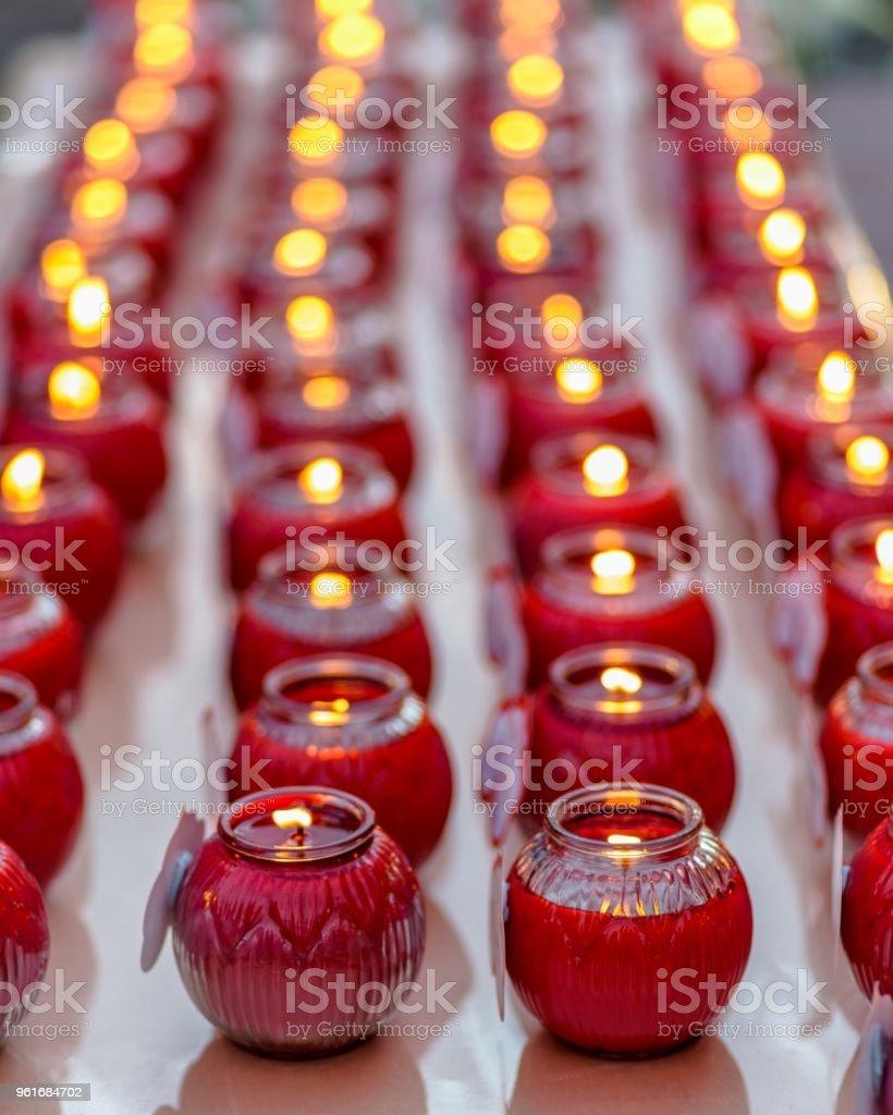 prayer candles stock photo