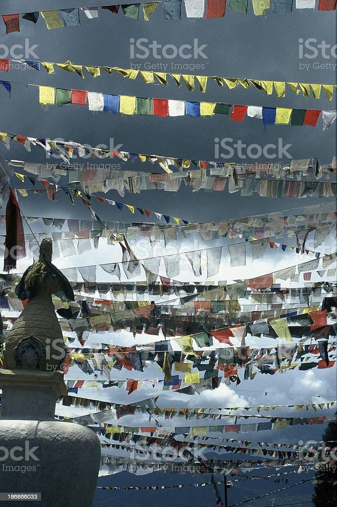 prayer flags at Swayambhunath, kathmandu royalty-free stock photo