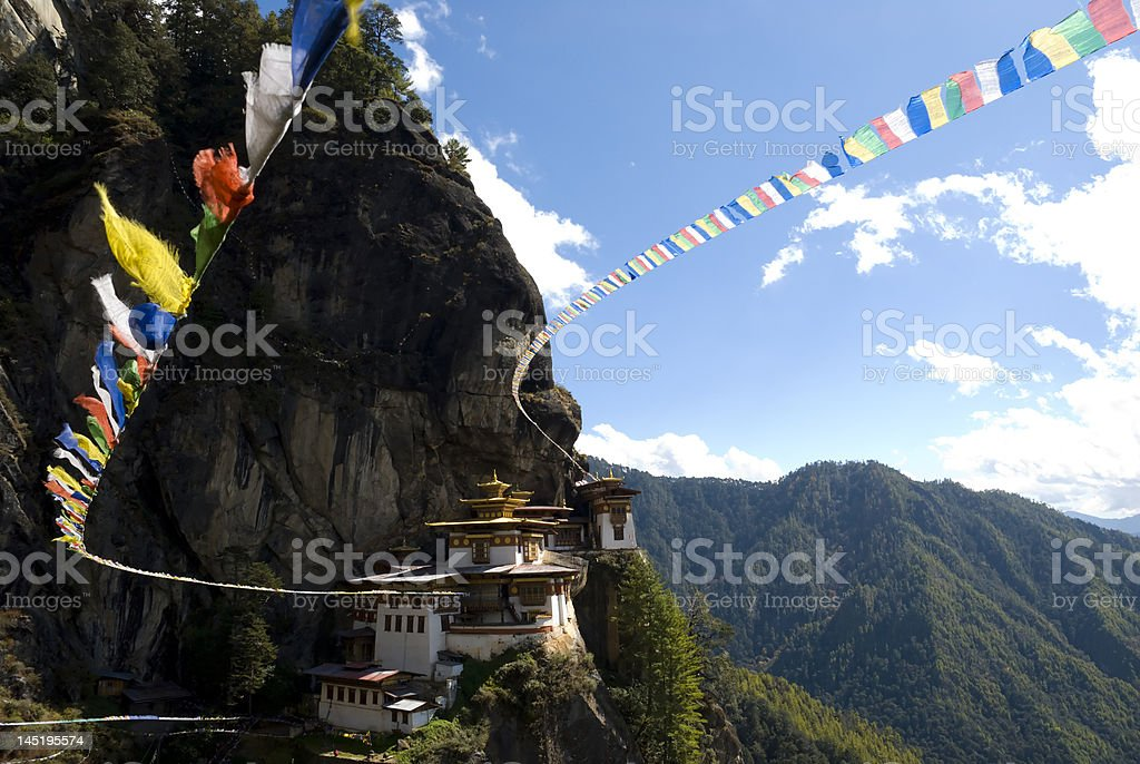 Prayer Flags From the Tiger's Nest stock photo