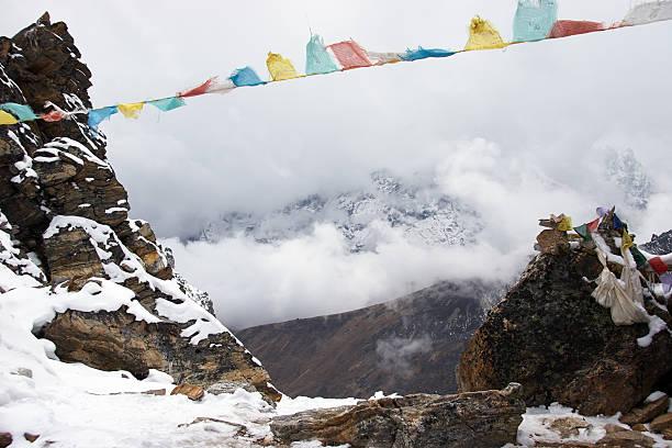 기도용 포석 in Himalaya, 네팔 스톡 사진