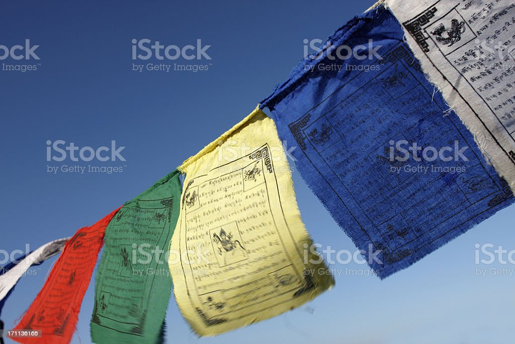 Prayer Flags in the Breeze stock photo