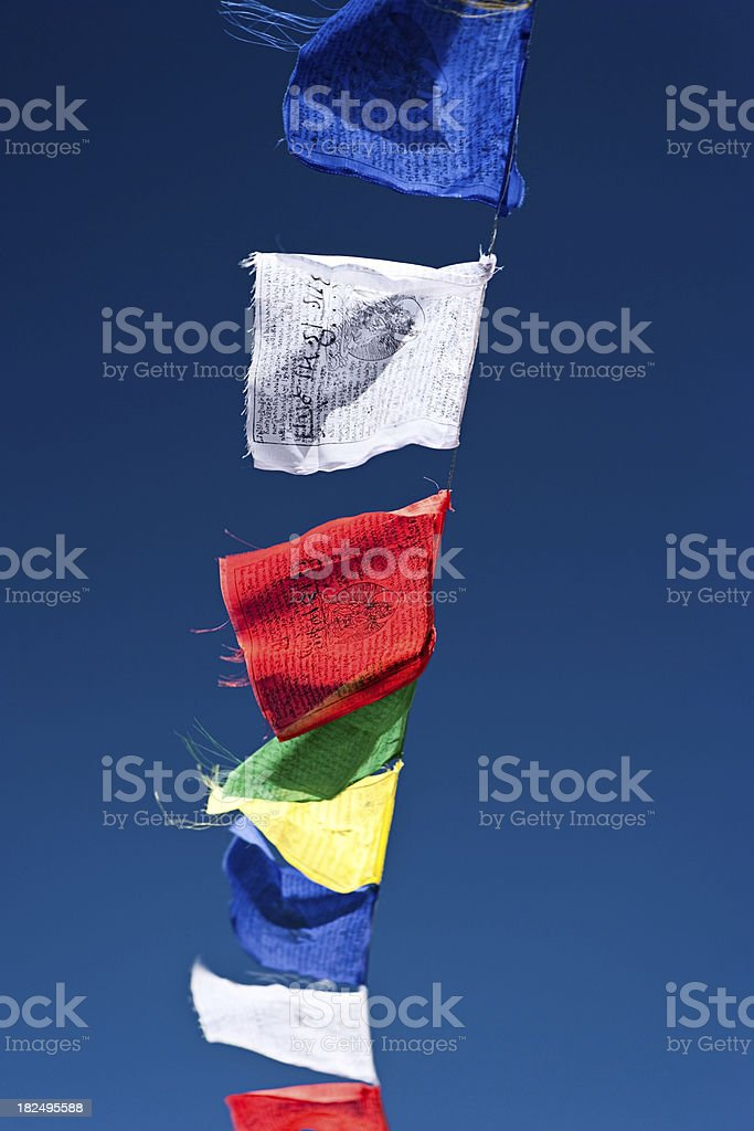 Prayer flags stock photo