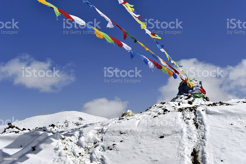 Prayer flags & Streamer stock photo