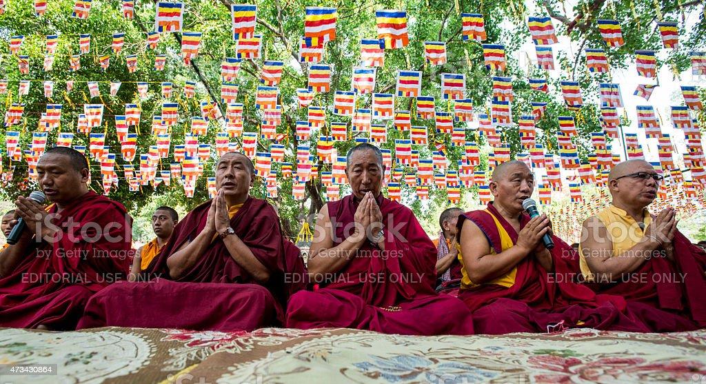 Prayer for Buddha stock photo