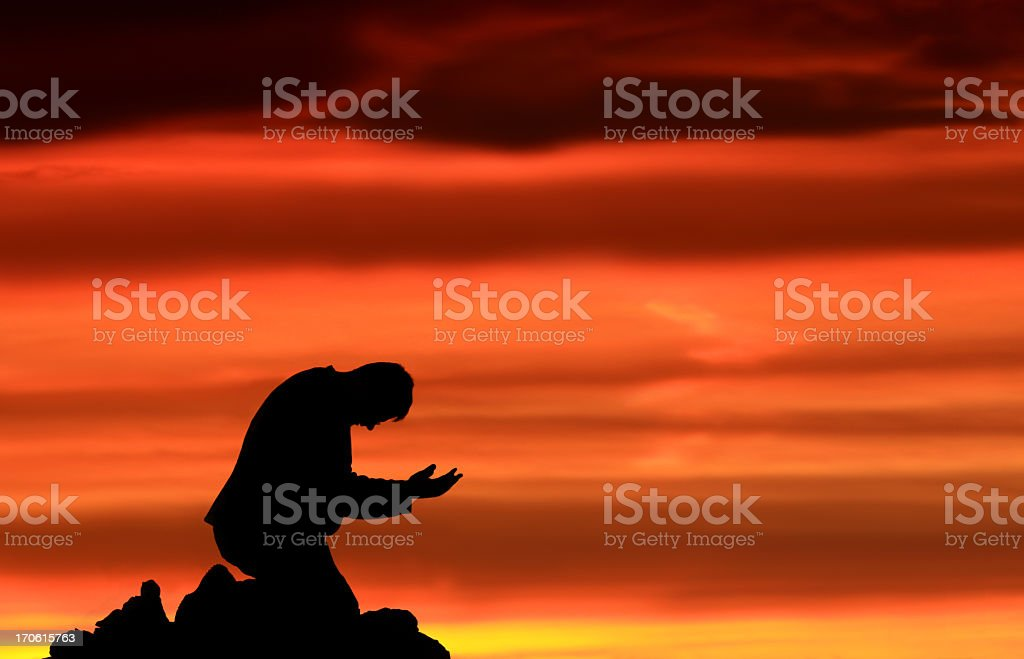 Prayer for Salvation and Forgiveness royalty-free stock photo