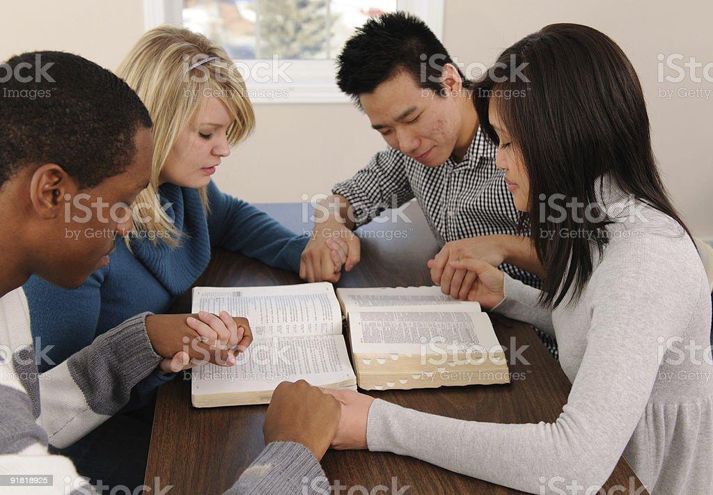 Prayer Group royalty-free stock photo