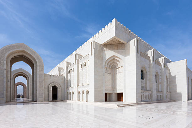 Prayer Hall Grand Mosque Sultan Qaboos Prayer Hall of Grand Mosque Sultan Qaboos. Muscat, Sultanate Oman. grand mosque stock pictures, royalty-free photos & images