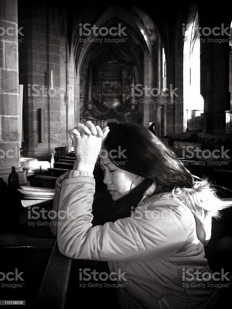 Prayer in Despair royalty-free stock photo