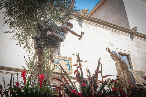 Prayer in the Garden.  Procession Holy Friday. Leon, Spain.