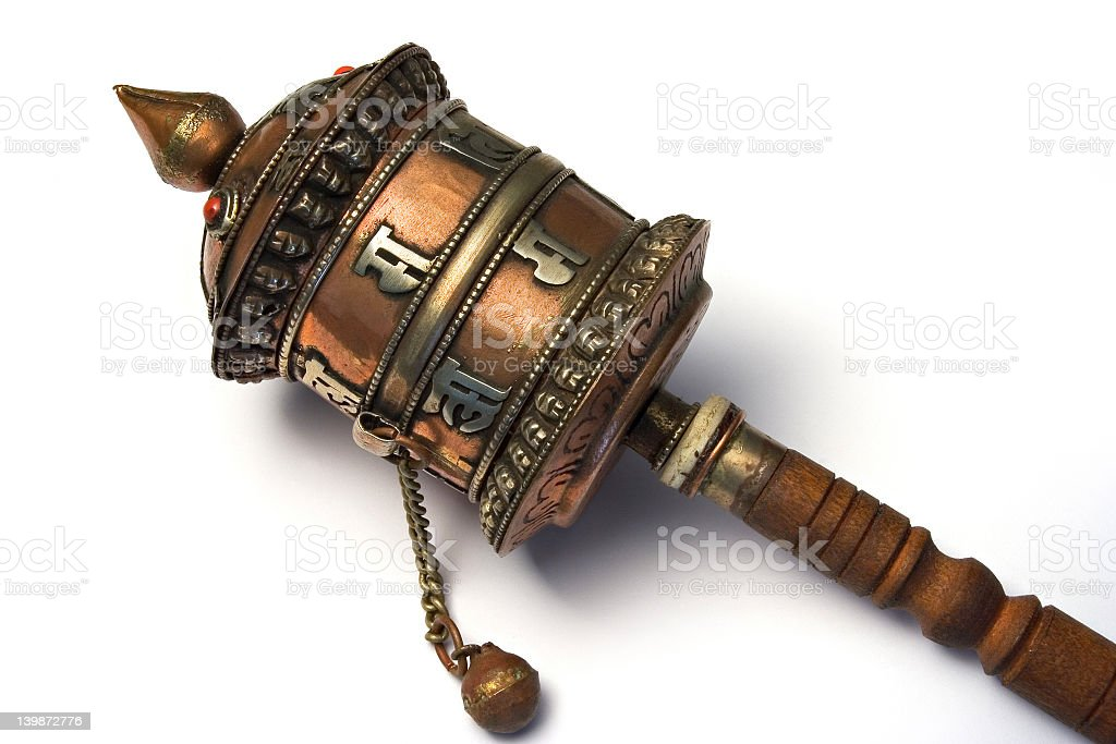 Prayer mill royalty-free stock photo