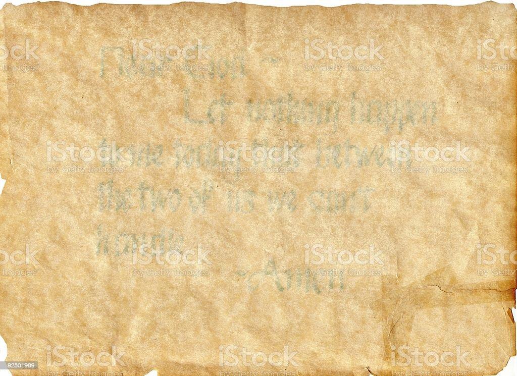 Prayer on Parchment royalty-free stock photo