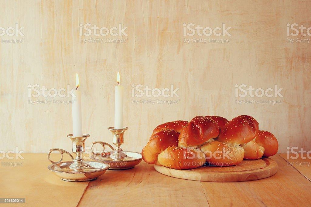 Prayer Shawl Tallit jewish religious symbol stock photo